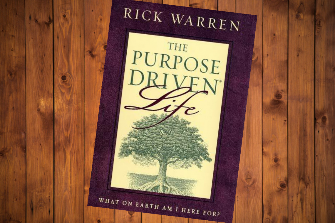 book cover of the purpose driven life by Rick Warren